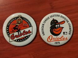 Baseball Orioles 1984 30th Anniversary And 1979 Al Division Champion Pins Buttons