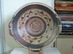 Large Intact Greek South Italian Decorated Pottery Bowl Patera 4th Cent Bc