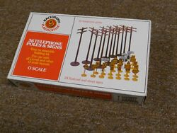 1960's Bachmann 1931 Train Set Telephone Poles And Signs-o Scale-new/box