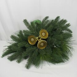Mr Christmas Musical Lighted Bells Pine Bough Swag Decoration Activated Video
