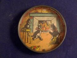 Vintage Toy Dexterity Game Puzzle Hand Held Family Cat's 1920