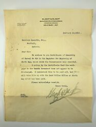 1916 Mortgage Certificate Of Ownership Of Parcel No 916 Nipissing North Bay 817a