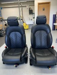 2013 Audi S8 Driver Seat And Passenger Seat With Carbon Fiber Trim Used Oem
