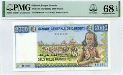 Djibouti 2000 Francs Nd 2005 Pick 43 Banque Centrale Lucky Money Value 680