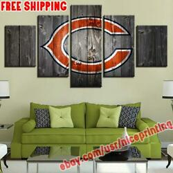 5p Chicago Bears Wooden Canvas Painting Photo Print Wall Art Fan Home Decor