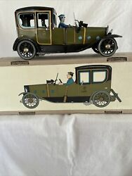 Rare Paya Wind Up Tin Toy 1923 Coche Coupe Limousine Reproduction Le W/driver