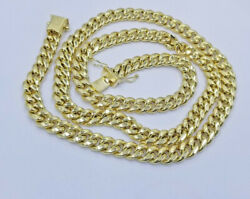 Real 14k Yellow Gold Necklace Miami Cuban Chain 6mm 18- 28 Strong Link Box Lock