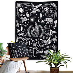 US Stock Hippie Tapestry Room Wall Hanging Psychedlic Throw Tapestry Home Decor