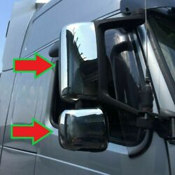 Volvo Fh2- Fh3  Chrome Mirror Covers - Super Polished Stainless Steel 4 Pcs.