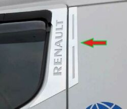 Renault Premium - Chrome Door Pillar Covers - Polished Stainless Steel 4 Pices.