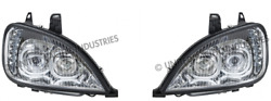 96-18 Freightliner Columbia Chrome Projection Headlights A0651041000 31090 31091