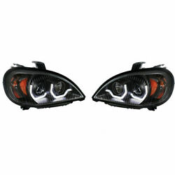 97+ Outlaw Customs Freightliner Columbia Blackout Projection Headlights 31254/55