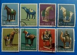 Full Set Of 1961 China Prc Tang Dynasty Pottery C46 Stamps Used Mh/mlh A