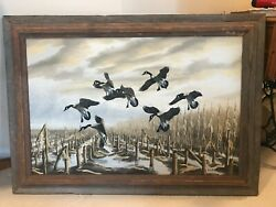 Wildlife Oil Painting By John Eberhardt - Wall Art Midwest Illinois Geese