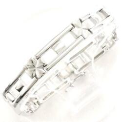 Jewelry 18k White Gold Bracelet About29.5g Free Shipping Used