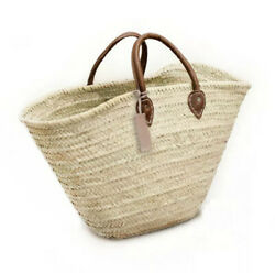 Beach Bag Handmade Moroccan French Straw Basket $39.00