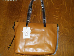 NWT Hobo international Leather Cecily handbag earth w black trim shoulder bag $65.00