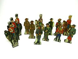 13 Vintage Marx Soldier Of Fortune Game Toy Soldiers Tin Litho Targets