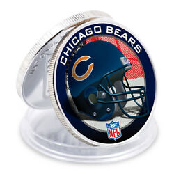 Birthday Souvenir Gifts Chicago Bears 999.9 Silver Plated Metal Coin Nfl Coin