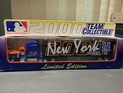 New York Mets Collectible Mlb Die Cast Tractor Trailer, New