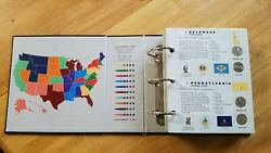 100 Coins Inside State Series Quarters 1999 2008 Coin Collectors Map Album D And P