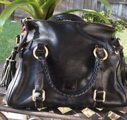 Authentic Pre owned Dooney amp; Bourke BLACK Leather Medium Leather Hobo Purse $69.99