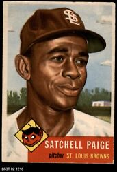 1953 Topps 220 Satchel Paige Browns 4 - Vg/ex