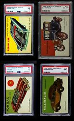 1954 Topps World On Wheels Low Number Complete Set 1-160 6 - Ex/mt