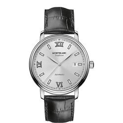 Man Wrist Watch Tradition 127769 Swiss Automatic Date In Black Leather