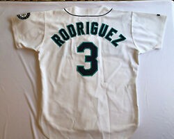 Vintage 90's Alex Rodriguez Seattle Mariners Jersey Russell Athletics 48 White⚾️