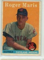 1958 Topps Roger Maris Rc 47 Cleveland Indians Rookie