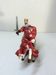 Papo Medieval Era Red King Richard And Horse 3.5 Figure Figurine 39338 2001