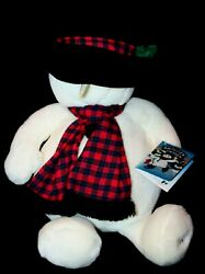 1997 Dayton Hudson Snowden Christmas Holiday Snowman Stuffed Toy