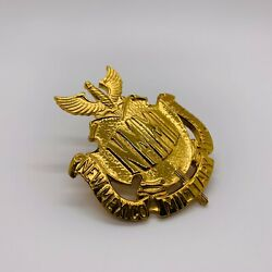 Ww2 Us New Mexico Military Institute Nmmi Visor Hat Front Insignia Badge 'meyer'
