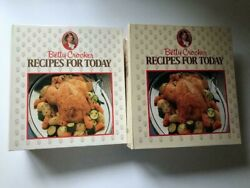 Betty Crocker Recipes For Today Two 2-ring Cookbooks-1986 Complete 18 Sections