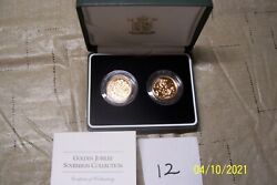 2002 / 2003 Royal Mint Golden Jubilee Gold Sovereign Collection 2 Coins