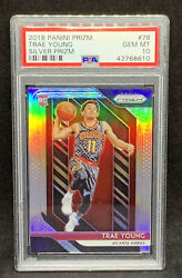2018 Panini Prizm 78 Trae Young Silver Prizm Rc Psa 10 Gem Mint Rookie Card