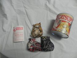 Vintage 1986 Chasley Catsup Kitties For Juggling Bean Bags With Instructions