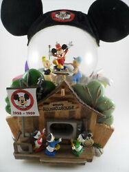 Rare Disney World Exclusive Mickey Mouse Club Clubhouse Musical Snow Globe 1990s