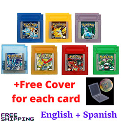 Classic Pokemon for Game Boy series Nintendo GBC Gold Silver Blue Red Green $8.99