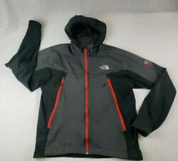 The North Face Summit Series Windstopper Black HOODED Full Zip Jacket Men#x27;s M $48.00