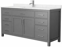 Wyndham Collection Wcg242466s-unsmxx Beckett 66 Single Basin - Dark Gray /