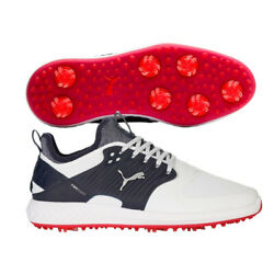 Ignite Pwradapt Caged Golf Shoes - White/ Silver/peacoat