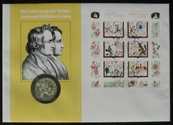 S1868 Numisbrief Gdr No 35 B Yellow Brothers Grimm 20 Mark Gesamtauflage 407 Of
