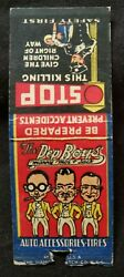 Vintage Matchbook /match Cover The Pep Boys Stop This Killing
