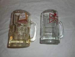 Vintage Dog And Suds Drive-in And Budweiser Glass Mug Lot -