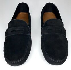 Black Suede Web Driver Size 10.5 11.5 Leather Loafer Shoes Slip On 566294