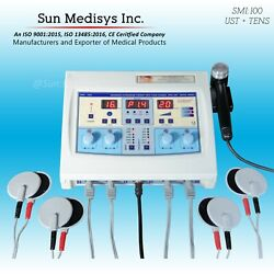 New Smi100 Ultrasound Therapy And 4 Channel Tens Electrotherapy Combi-1 Machine