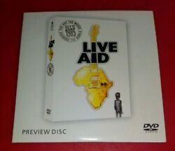 Rare Live Aid 85 Preview Disc Dvd Marked Sample Only Not For Sale New + Unplayed