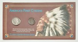 America's First Citizens 1935 Buffalo Nickel, 1907 Indian Head Penny, 2 Coin Set